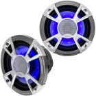 "Clarion CMQ1622RL 6-1/2"" Marine Coaxial Speakers with LED Lighting"