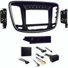Metra 99-6538B Single or Double DIN Car Stereo Dash Kit for 2015 - and Up Chrysler 200