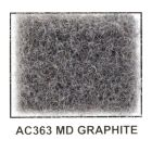 "Metra AC363 40"" Wide x 50 Yard Long Acoustic Carpet - Medium Graphite"