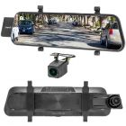 """VanTop H610 10"""" HD Touchscreen Rearview Mirror Monitor with 2.5K Front Camera DVR and HD Backup Camera"""