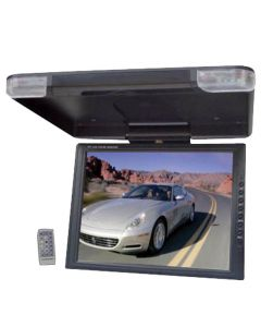 Pyle PLVW-R1440 14 Inch Overhead Roof Mount Flip Down LCD Monitor with IR Infrared Transmitter and Swivel Screen