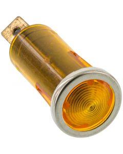 Battery Doctor 20540 12 Volt Flush Mount Amber Indicator Light with Chrome Bezel