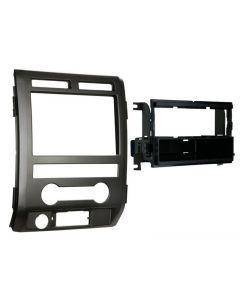 Metra 99-5822B Matte Black Dash Kit Turbokit ISO Single DIN Ford F-150 Lariat and Platinum 2009-2010 Vehicles (Not for NAV Equipped Models)