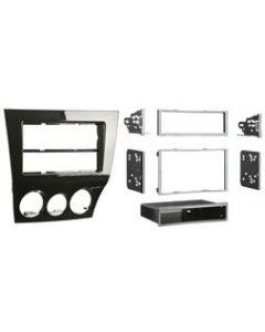 Metra 99-7515HG High Gloss Black Dash Kit Turbokit ISO Single or Double DIN Mazda RX-8 2009-2010 Vehicles