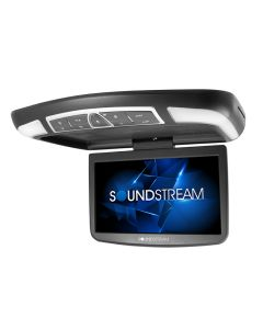 "Soundstream VCM-138H 13"" Overhead DVD Player with HDMI input, 3 Interchangeable Color Skins and LED Accents"
