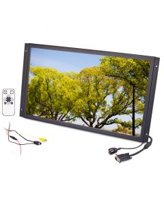 Quality Mobile Video LCDMC22WX 22 Inch panel mount monitor - Right side