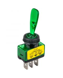 Accele 178GRN Toggle Switch with Green LED indicator - Main