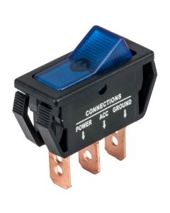Accele 257BLU Rocker Switch with Blue LED illumination - Main