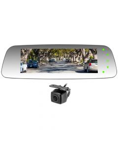 Accelevision RVMHDMONITOR 7 inch HD Clip-On Rearview Mirror Monitor with Surface Mount Backup Camera