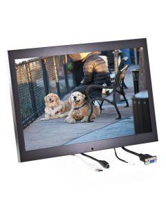 Quality Mobile Video QMV-LCDM154WVGAH 15.4 inch metal housed LCD monitor - Left