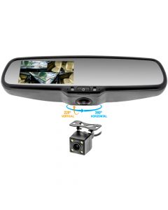 Accelevision RVMDVR360 Touchscreen 360 Degree DVR Visual Blind Spot Rearview Mirror