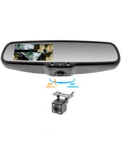 Accelevision RVMDVR360IR Capacitive Touchscreen 360 Degree DVR Rearview Mirror Monitor and Infrared Backup Camera