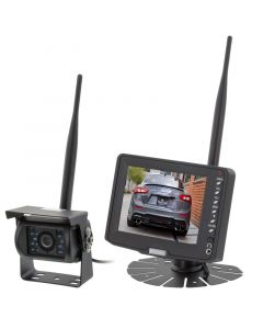 Safesight TOP-SS-501W2 Universal 5 inch LCD Monitor and Heavy Duty Commercial RV Back Up CCD Digital Wireless Camera System - Main