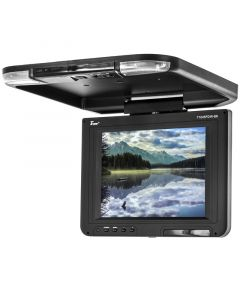 Tview T1045FDIRBK 10.4 Inch Roof Mount Flip Down Monitor with IR Infrared Transmitter - Main