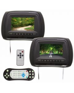 Quality Mobile Video XHRDS7 Dual Headrest DVD Players - Main