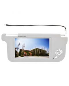 """Accelevision ZSV9P 9"""" Wide Screen Replacement Sun Visor Monitors - Passenger side-Grey"""