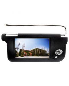 "Accelevision ZSV9P 9"" Wide Screen Replacement Sun Visor Monitors - Passenger side-Black"