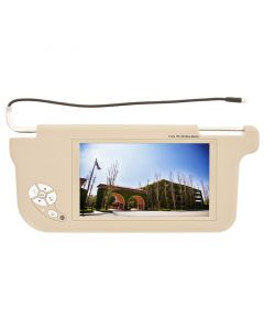 """Accelevision ZSV9DR 9"""" Wide Screen Replacement Sun Visor Monitors - Drivers side-Tan"""