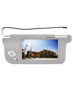 """Accelevision ZSV9DR 9"""" Wide Screen Replacement Sun Visor Monitors - Drivers side-Grey"""