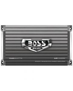 Boss Audio AR1500M Armor Series Monoblock MOSFET Power Amplifier with Remote Subwoofer Level Control 1500W