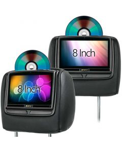 Audiovox HR8 8 inch DVD Headrest for 2011 - 2012 Ford F-250 / F-350 / F-450 - Main