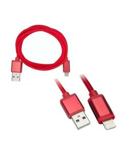 Axxess AX-LTNG-RD 3 foot USB to Apple Lightning Cable - Red