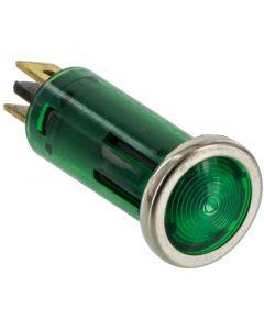 Battery Doctor 20542 12 Volt Flush Mount Green Indicator Light with Chrome Bezel