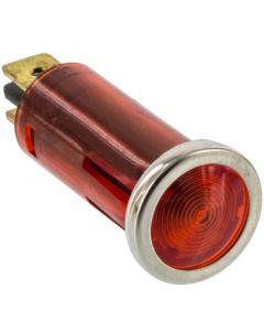 Battery Doctor 20543 12 Volt Flush Mount Red Indicator Light with Chrome Bezel