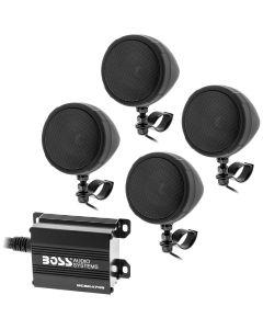 Boss Audio MCBK470B Black Motorcycle/ATV Sound System with Bluetooth Audio Streaming - Main