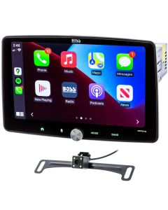 """Boss Audio BCPA10RC Digital Media Receiver with 10"""" Floating Capacitive Touchscreen, Apple Carplay and Android Auto with Backup Camera"""