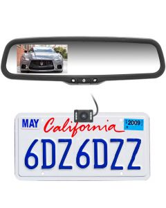 """Boyo Vision VTC1743M 4.3"""" Rearview Mirror Monitor License Plate Backup Camera System"""