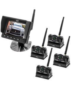 Boyo VTCRH4 5 inch 720p Digital Wireless Quad Camera System