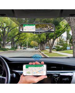 Boyo VTM43MW 4.3 Inch Digital Rear View Mirror Monitor with Wifi, HDMI & Device Mirroring Capabilities - Main