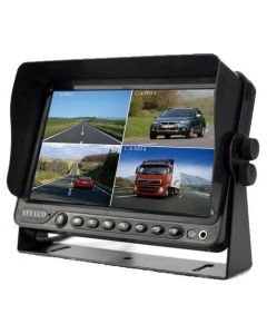 """Boyo VTM7012QFHD 7"""" AHD/Composite video Universal Quad-Screen Monitor with Built in DVR and triggered video inputs"""