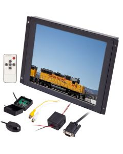 Clarus RP-10 10 inch panel mount LCD monitor with flush mount flanges - Front right