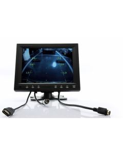 Quality Mobile Video CVFQ-E166 8 Inch Touchscreen LCD Monitor with VGA, AV, and Mounting Stand
