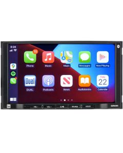 """Dual DCPA701 7"""" Double DIN Multimedia Receiver with Apple CarPlay & Android Auto"""