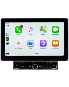 "Dual DMCPA11BT 10.1"" Media Receiver with Apple CarPlay, Android Auto and Over-sized Capacitive Display"