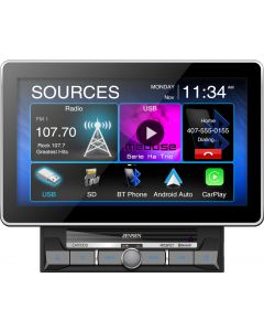 """Jensen CAR1000 10"""" Media Receiver with Apple CarPlay, Android Auto and Over-sized Capacitive Display"""