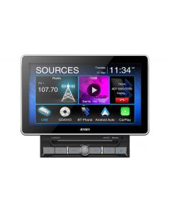 """Jensen CAR8000 10"""" Media Receiver with Apple CarPlay, Android Auto and Over-sized Capacitive Display"""