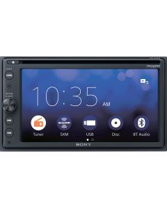 "Sony XAV-AX210SXM 6.4"" Double DIN DVD Receiver with Apple Carplay, Android Auto and free SiriusXM satellite radio tuner"