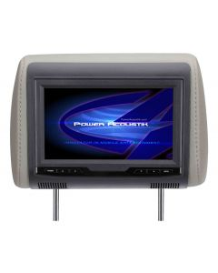 """POWER ACOUSTIK H-70CC 7"""" Universal Replacement Headrest Monitor with 3 Color Skins for Vehicles"""