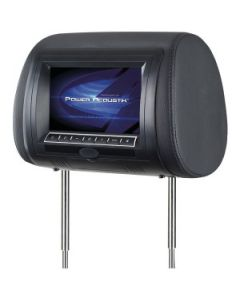 POWER ACOUSTIK H‐75CC Preloaded Universal Replacement Headrest LCD Monitor with 3 Interchangeable Skins (Without DVD Player) For Vehicles