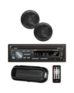 Pyle PLCDBT75MRB Marine Stereo Receiver