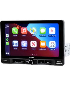 """Jensen CAR910W Single DIN Digital Media Receiver with 9"""" Floating Capacitive Touchscreen, Wireless Apple Carplay, Android Auto and SiriusXM Ready"""