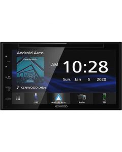 """Kenwood DDX5707S Double DIN 6.8"""" In-Dash DVD/CD/AM/FM Receiver with Apple CarPlay, Android Auto, Bluetooth and SiriusXM Ready"""