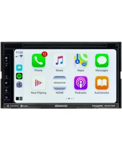 """Kenwood DDX6706S Double DIN 6.8"""" In-Dash DVD/CD/AM/FM Receiver with Bluetooth, SiriusXM Ready and Apple CarPlay"""