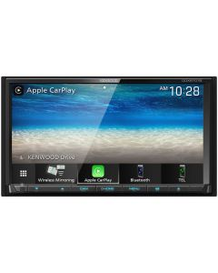 """Kenwood DDX9707S Double DIN 6.95"""" In-Dash DVD/CD/AM/FM Receiver with Bluetooth, Built-in HD Radio, Apple CarPlay, Android Auto, WebLink and Dash Cam Link"""