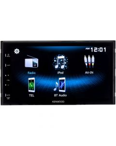 """Kenwood DMX125BT Double DIN 6.8"""" Digital Multimedia Receiver with Bluetooth, USB Mirroring for Android, SWC Connections and Capacitive Touchscreen"""