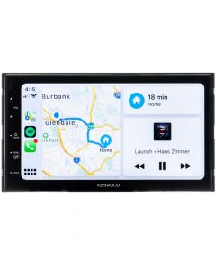 Kenwood DMX47S 6.8 Inch Double DIN Digital Media Receiver with Apple CarPlay and Android Auto